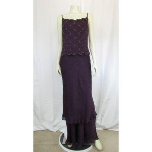 Montage by Mon Cheri Silk Purple Dress 12